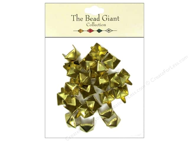 The Bead Giant Collection Nailhead Pyramid 3/8 in. Gold 26 pc.