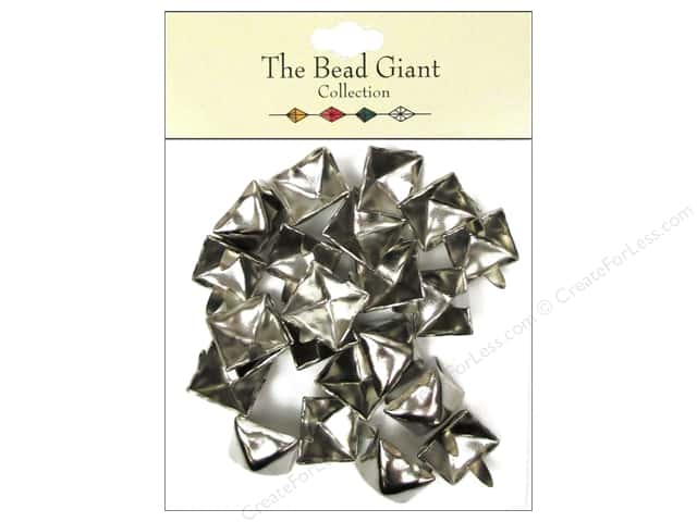 The Bead Giant Collection Nailhead Pyramid 1/2 in. Silver 22 pc.