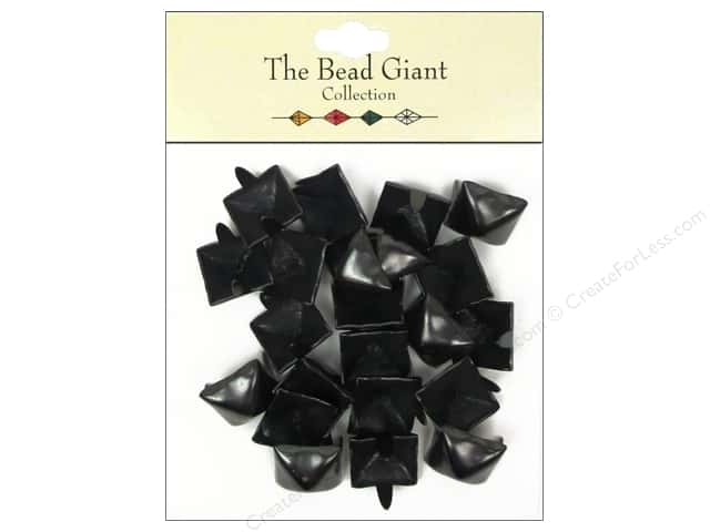 The Bead Giant Collection Nailhead Pyramid 1/2 in. Black 22 pc.