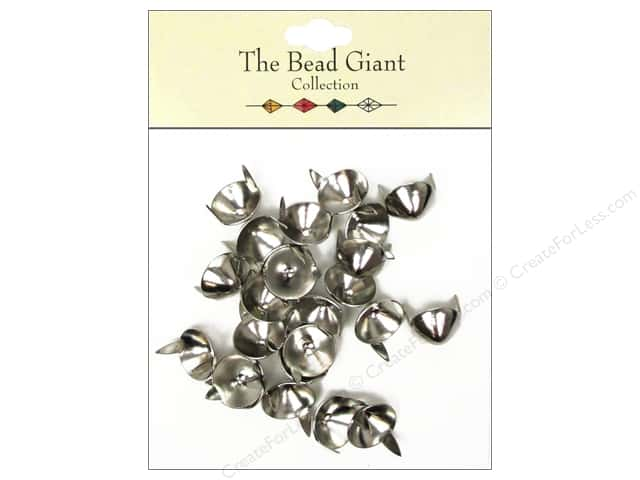 The Bead Giant Collection Nailhead Cone 7/16 in. Silver 24 pc.
