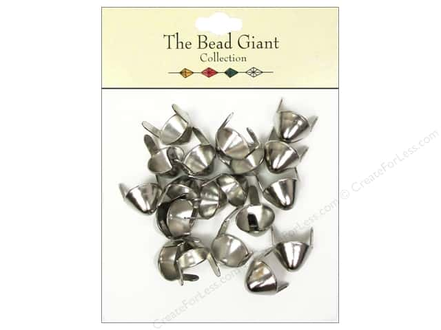 The Bead Giant Collection Nailhead Spike Medium Silver 20 pc.