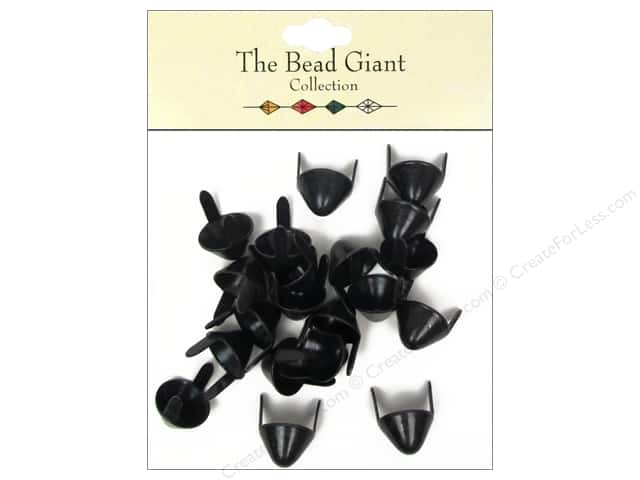 The Bead Giant Collection Nailhead Spike Medium Black 20 pc.