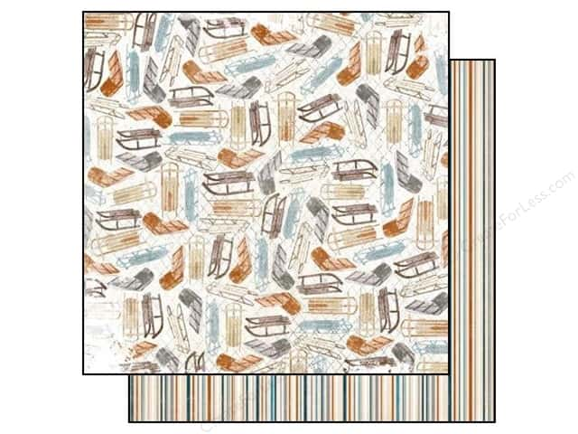 Bo Bunny 12 x 12 in. Paper Woodland Winter Collection Toboggan (25 sheets)