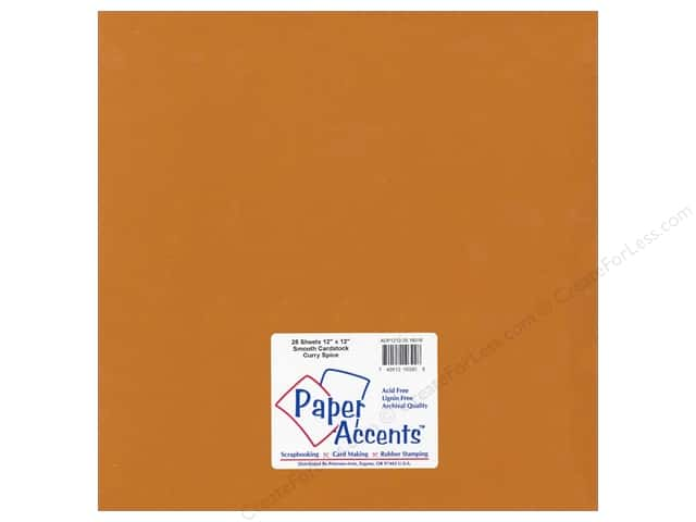 Paper Accents Cardstock 12 x 12 in. #18016 Smooth Curry Spice (25 sheets)