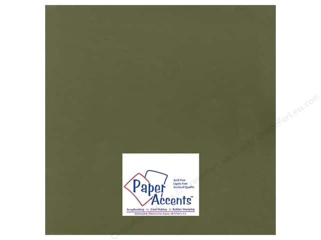 Cardstock 12 x 12 in. Smooth Tank Green by Paper Accents (25 sheets)