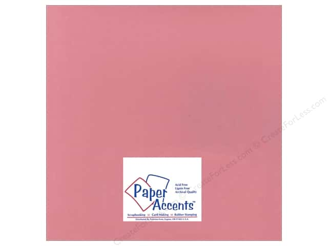 Cardstock 12 x 12 in. Smooth Vintage Pink by Paper Accents (25 sheets)
