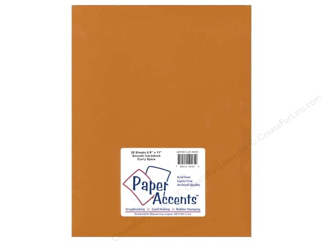 Cardstock 8 1/2 x 11 in. Smooth Curry Spice by Paper Accents (25 sheets)