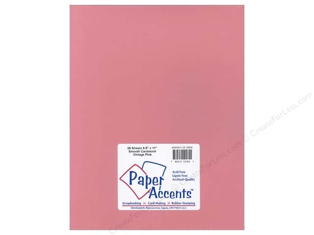Paper Accents Cardstock 8 1/2 x 11 in. #18058 Smooth Vintage Pink (25 sheets)