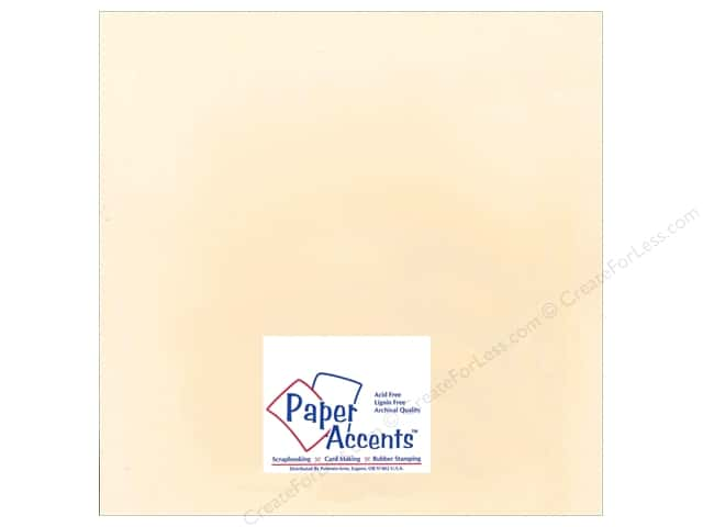 Cardstock 12 x 12 in. Smooth Manila by Paper Accents (25 sheets)
