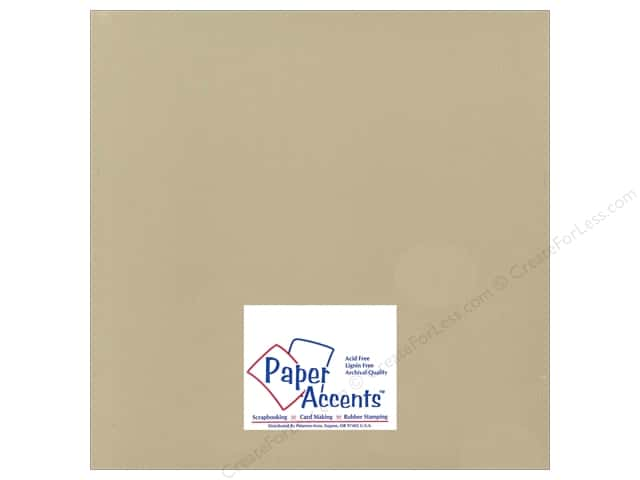 Cardstock 12 x 12 in. Ultra Matte Fawn by Paper Accents (25 sheets)