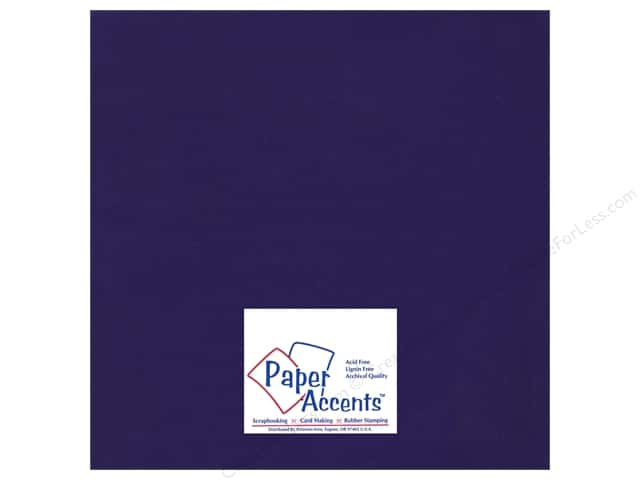 Cardstock 12 x 12 in. Ultra Matte Imperial Blue by Paper Accents (25 sheets)