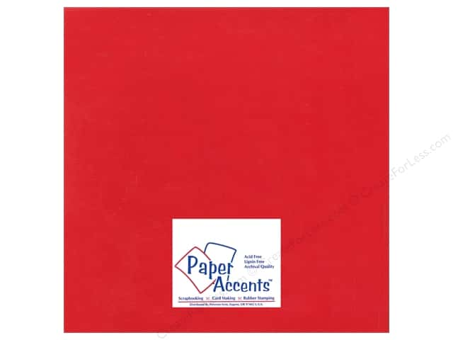 Cardstock 12 x 12 in. Ultra Matte Chinese Red by Paper Accents (25 sheets)