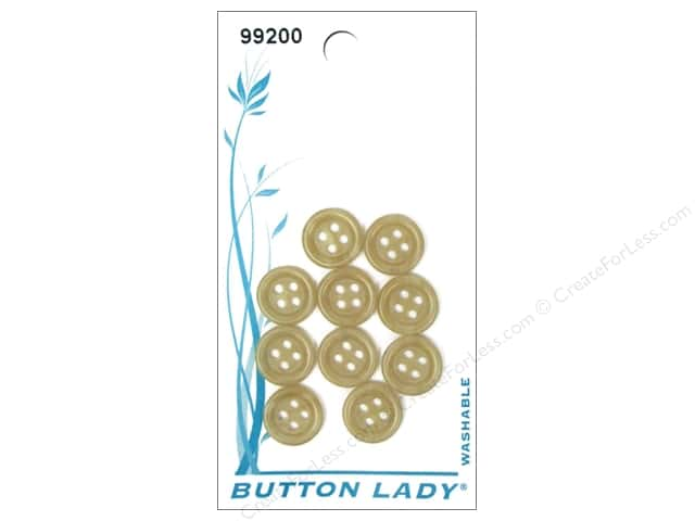 JHB Button Lady Buttons 3/8 in. Marble Brown #99200 10 pc.