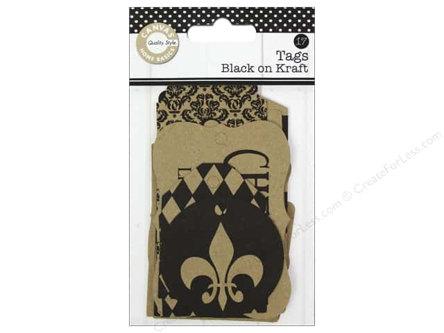 Canvas Corp Printed Tags Black On Kraft