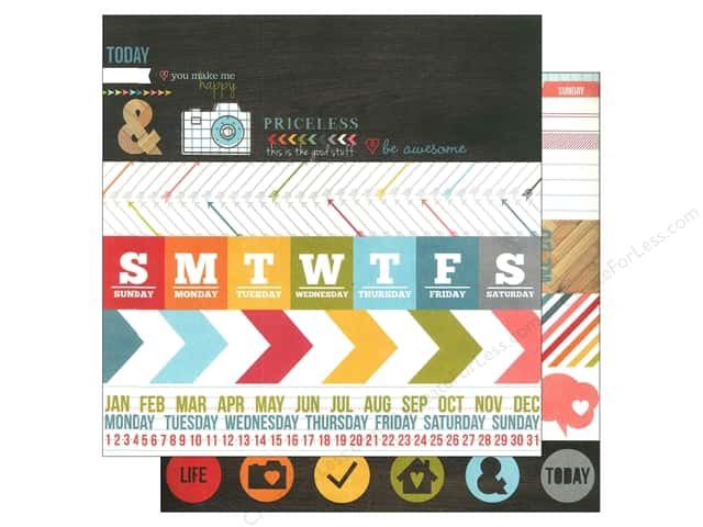 Simple Stories 12 x 12 in. Paper Daily Grind Border & Title Strip (25 sheets)