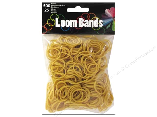 Midwest Design Loom Bands 525 pc. Light Coffee