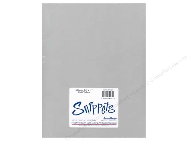 Vellum 8 1/2 x 11 in. #901 Light Weight White by Paper Accents 5 pc.