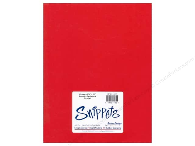 Cardstock 8 1/2 x 11 in. #178 Smooth Scarlet by Paper Accents 3 pc.