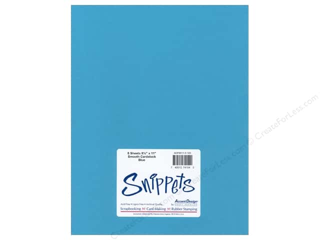 Cardstock 8 1/2 x 11 in. #103 Smooth Blue by Paper Accents 5 pc.
