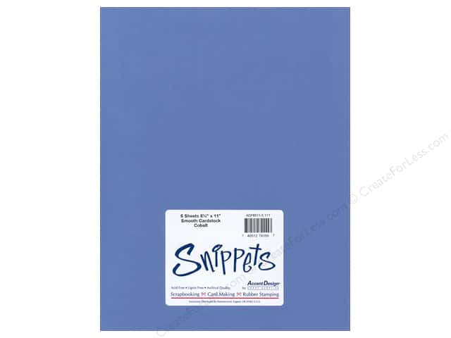 Cardstock 8 1/2 x 11 in. #111 Smooth Cobalt by Paper Accents 5 pc.