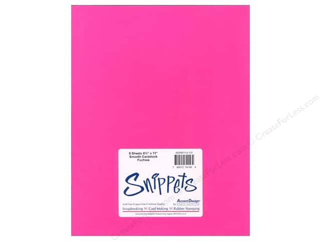 Cardstock 8 1/2 x 11 in. #112 Smooth Fuchsia by Paper Accents 5 pc.