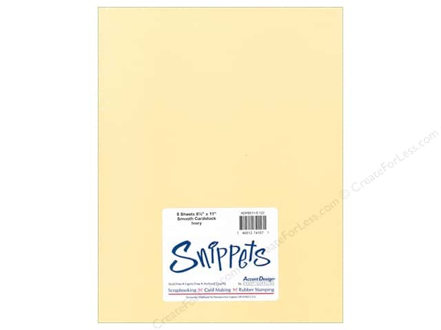 Cardstock 8 1/2 x 11 in. #122 Smooth Ivory by Paper Accents 5 pc.
