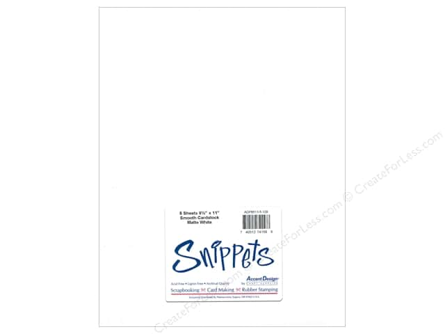 Cardstock 8 1/2 x 11 in. #129 Smooth Matte White by Paper Accents 5 pc.