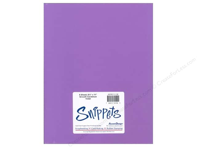 Cardstock 8 1/2 x 11 in. #146 Smooth Violet by Paper Accents 5 pc.