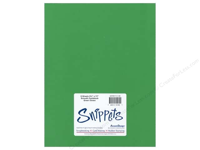 Cardstock 8 1/2 x 11 in. #90 Smooth Green Grass by Paper Accents 5 pc.