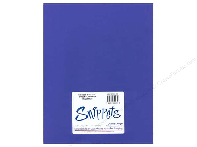 Cardstock 8 1/2 x 11 in. #159 Smooth Royal Blue by Paper Accents 5 pc.