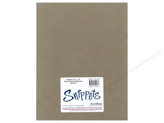 Paper Accents Chipboard 8 1/2 x 11 in. 52 pt. Extra Heavy Natural 2 pc.