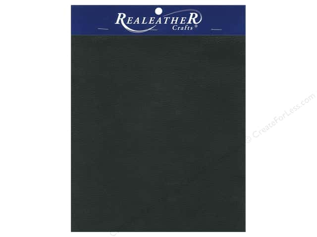 "Silver Creek Realeather Leather Premium Trim Piece 8.5""x 11"" Card Black"