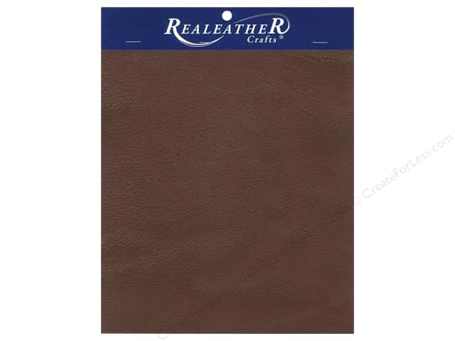 "REALEATHER by Silver Creek Leather Premium Trim Piece 8.5""x 11"" Card Brown"