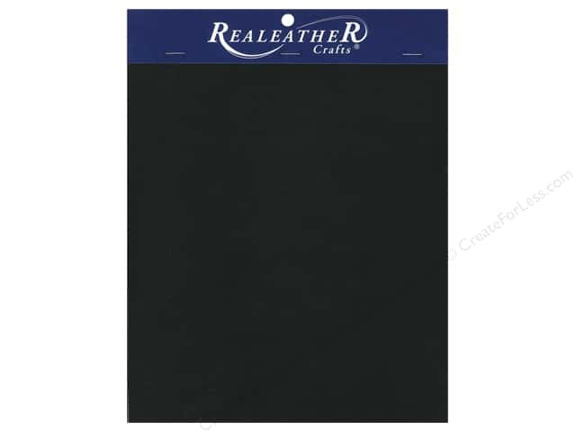 "REALEATHER by Silver Creek Leather Triumph Trim Piece 8.5""x 11"" Card Black"