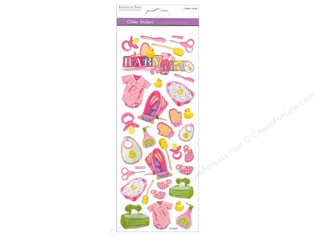 Multicraft Sticker Paper Craft Glitter Baby Girl