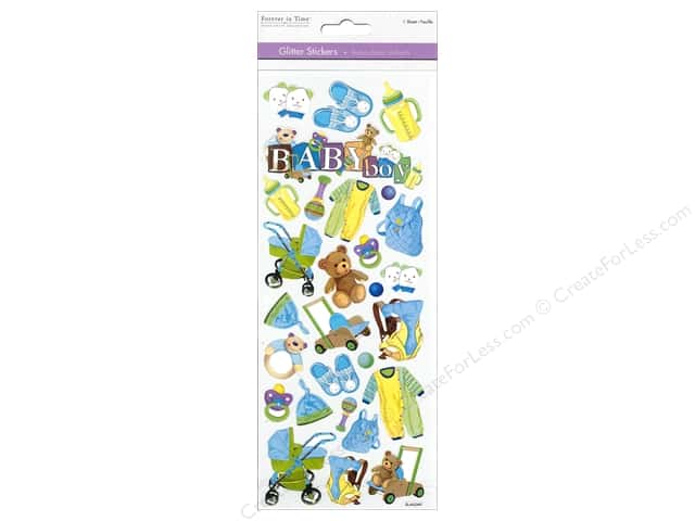 Multicraft Sticker Paper Craft Glitter Baby Boy