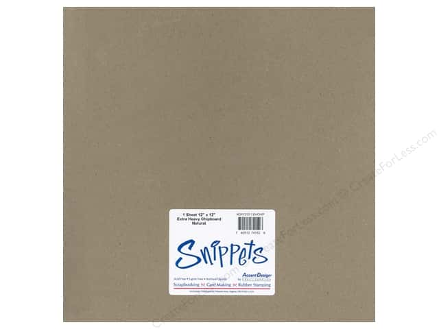 Paper Accents Chipboard 12 x 12 in. 52 pt. Extra Heavy Natural 1 pc.
