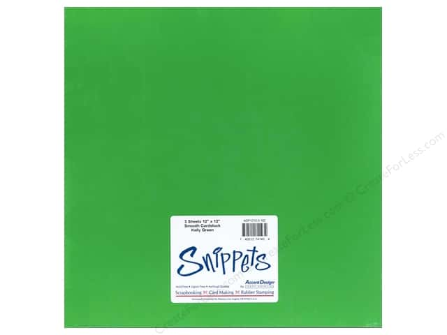 Cardstock 12 x 12 in. #102 Smooth Kelly Green by Paper Accents 3 pc.