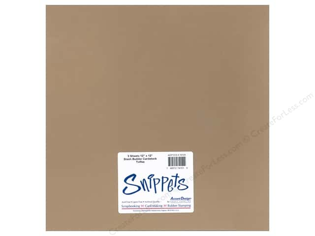 Paper Accents Cardstock 12 x 12 in. #10125 Stash Builder Toffee 3 pc.
