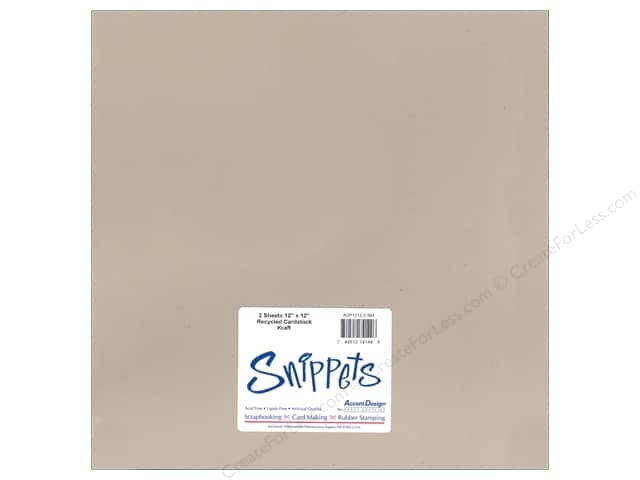 Cardstock 12 x 12 in. #304 Recycled Kraft by Paper Accents 2 pc.