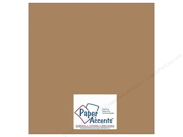 Cardstock 12 x 12 in. #357 Recycled Brown Bag by Paper Accents (25 sheets)