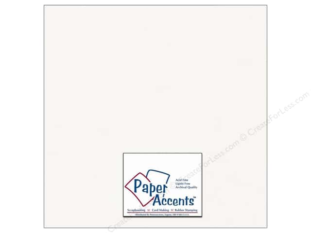 Cardstock 12 x 12 in. #401 Linen Bright White by Paper Accents (25 sheets)
