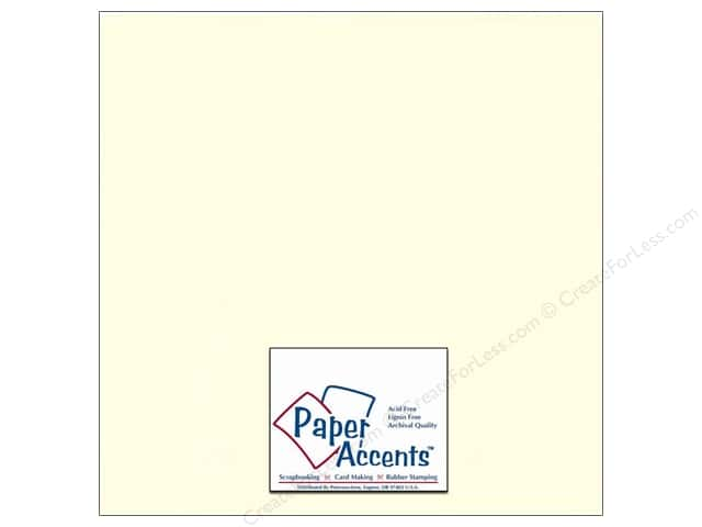 Cardstock 12 x 12 in. #402 Linen Light Ivory by Paper Accents (25 sheets)