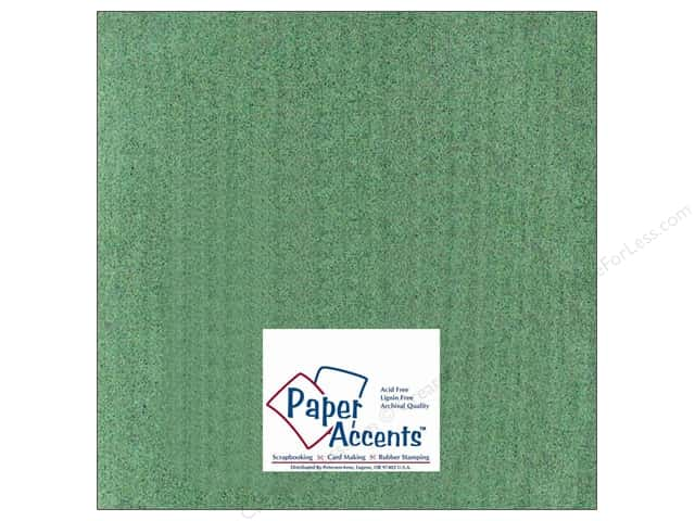 Paper Accents Cardstock 12 x 12 in. #408 Linen Dark Sage (25 sheets)