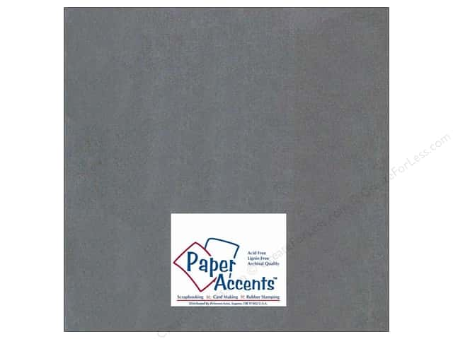 Cardstock 12 x 12 in. #409 Linen Charcoal by Paper Accents (25 sheets)