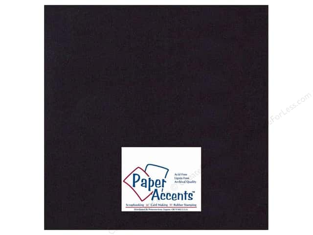 Paper Accents Cardstock 12 x 12 in. #410 Linen Black (25 sheets)