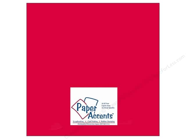 Paper Accents Cardstock 12 x 12 in. #412 Linen Red Pepper (25 sheets)