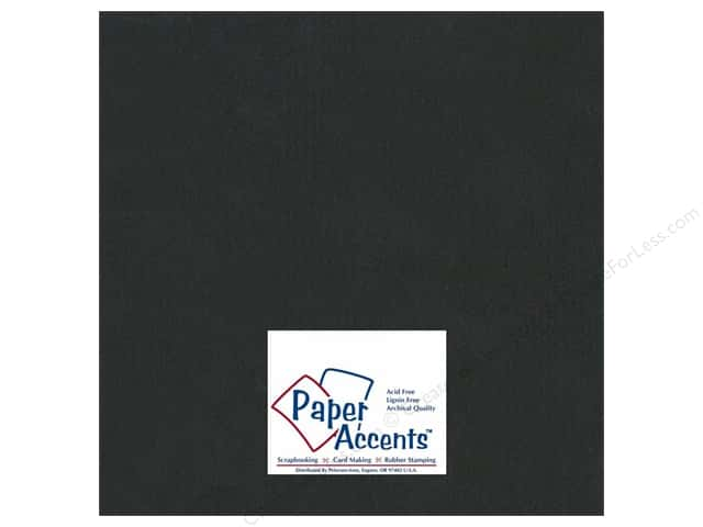 Cardstock 12 x 12 in. #508 Columns Black by Paper Accents (25 sheets)