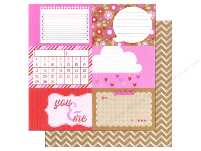 Doodlebug 12 x 12 in. Paper Sweetheart Twitterpated (25 sheets)