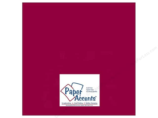 Cardstock 12 x 12 in. #511 Columns Red by Paper Accents (25 sheets)